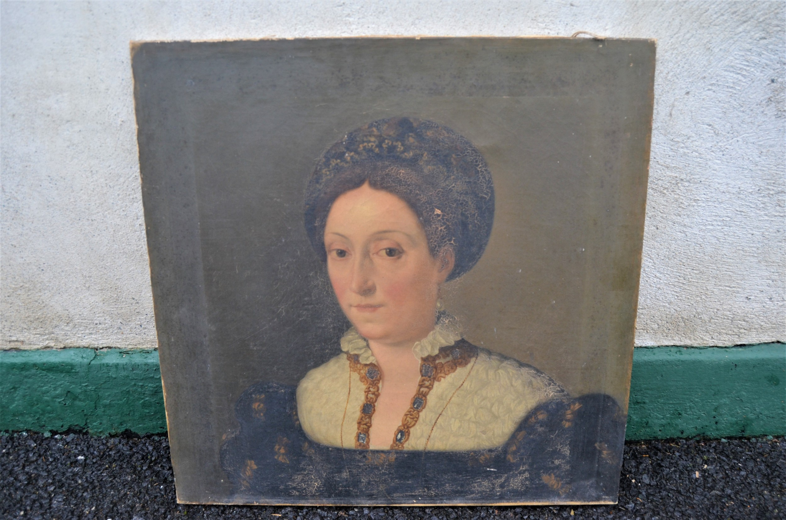 19th century oil painting on canvas