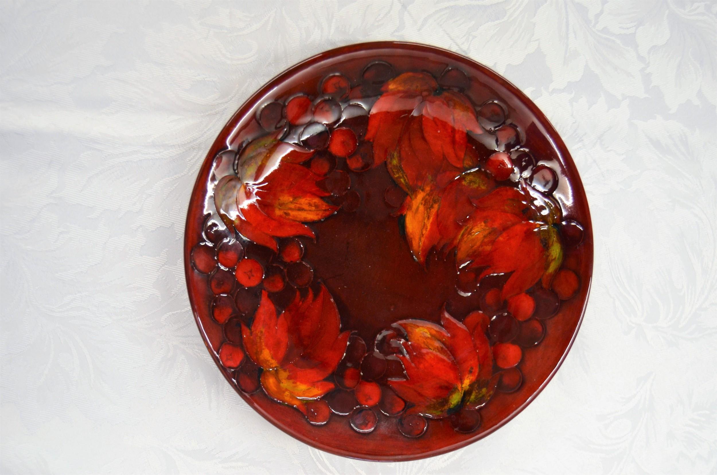 moorecroft flambe porcelain plate