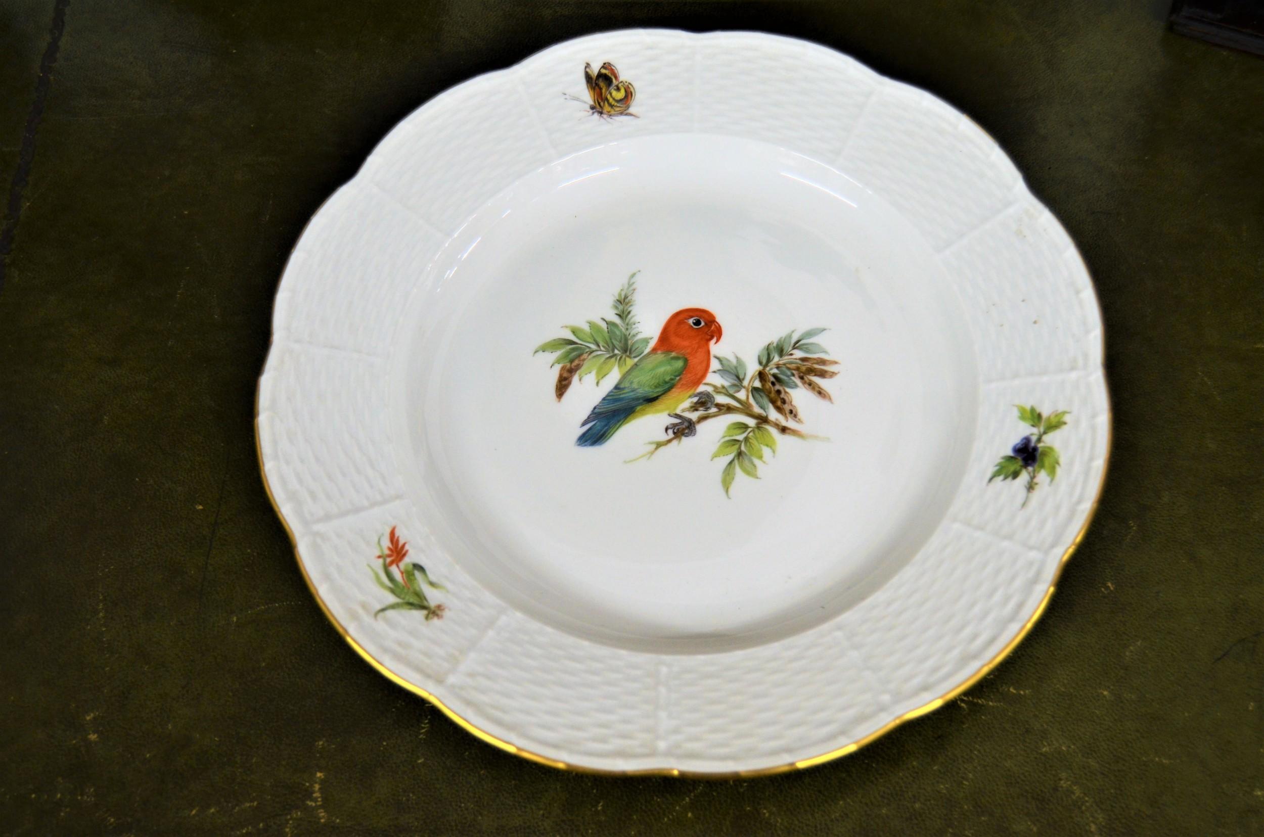 meissen porcelain hand painted plate