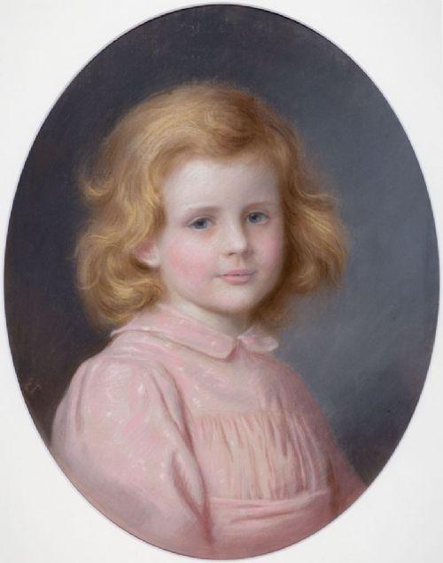 framed portrait of doris cookson pastel drawing by edward tayler