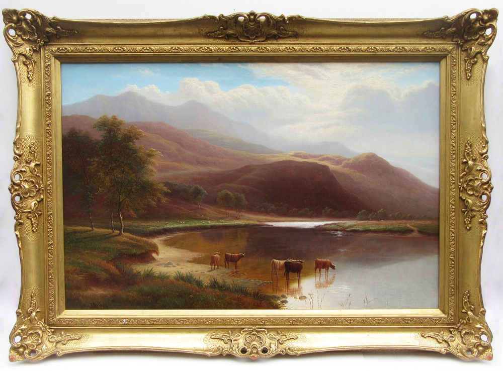 on the glaslyn north wales oil painting by william mellor