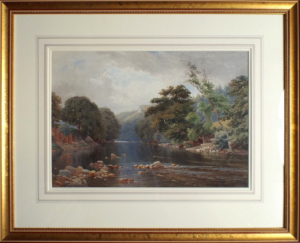 river wye derbyshire watercolour painting by harold harry sutton palmer