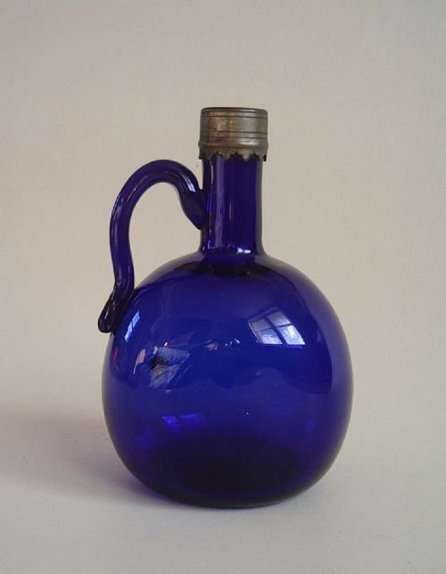 Antique Bristol Blue Glass Bristol Blue Glass Decanter
