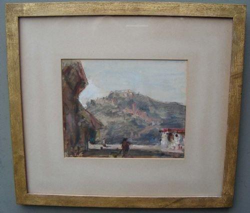 hercules brabazon brabazon 18211906 'continental landscape street scene' wc pencil c1890