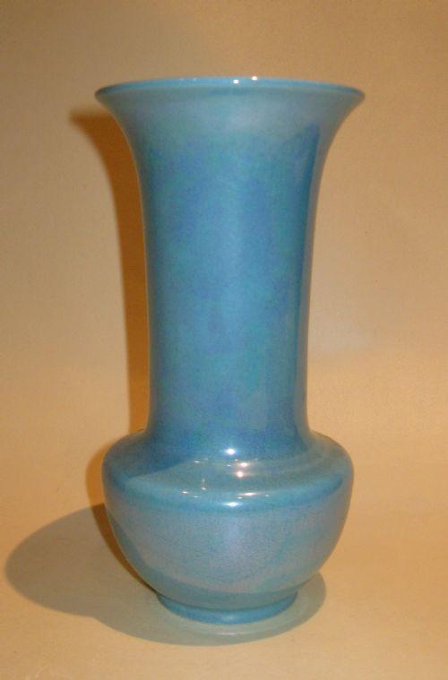 Large Ruskin Pottery Blue Souffle Glaze Vase C1922 193883