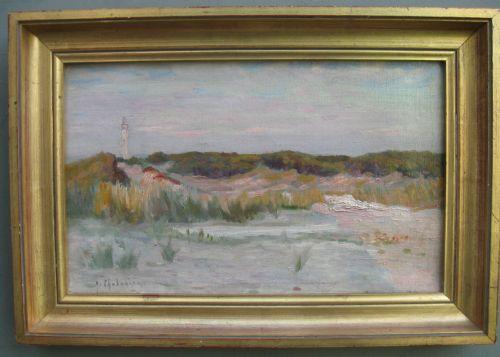 impressionist arsene chabanian 18641949 'dunes of normandy' oil c1920