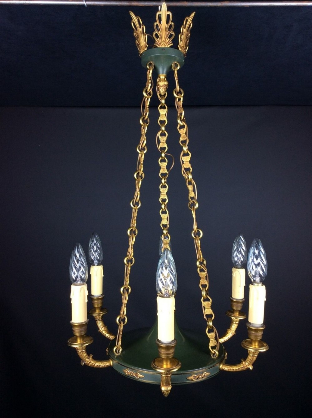 Cora Ceiling Light Bronze 6 Arm : Gorgeous french empire style arm bronze chandelier