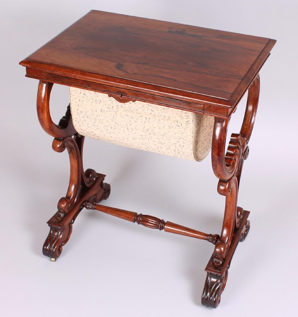 william iv period rosewood worktable