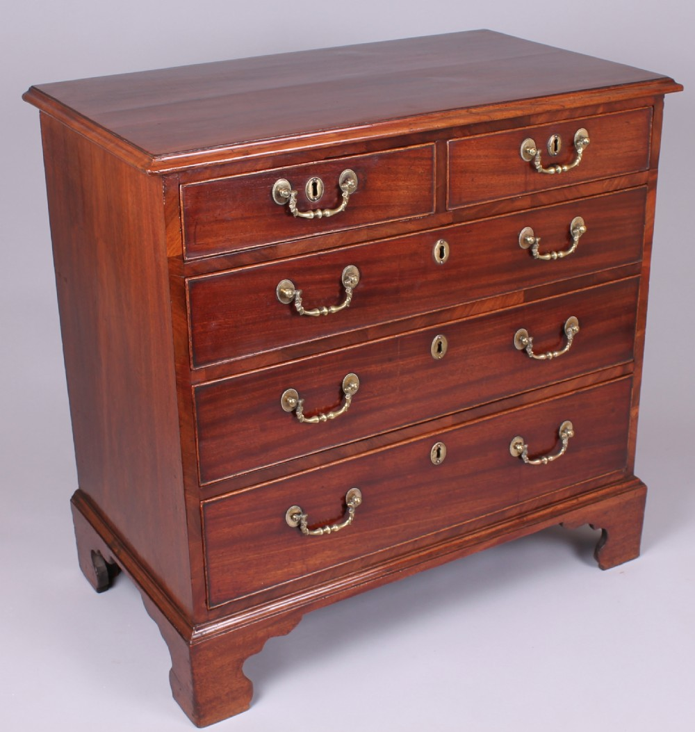george iii period mahogany small chestofdrawers