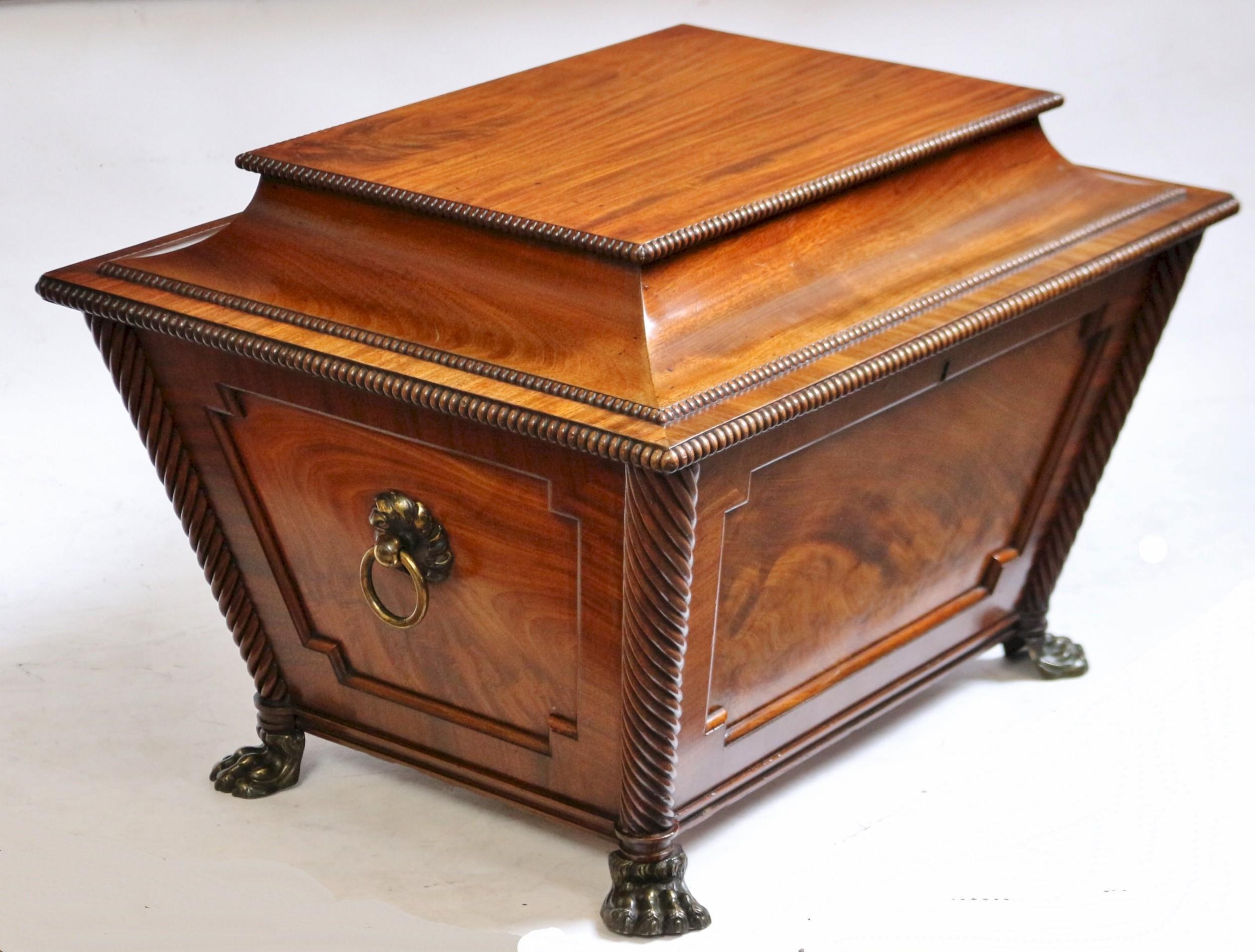 fine regency period mahogany winecooler