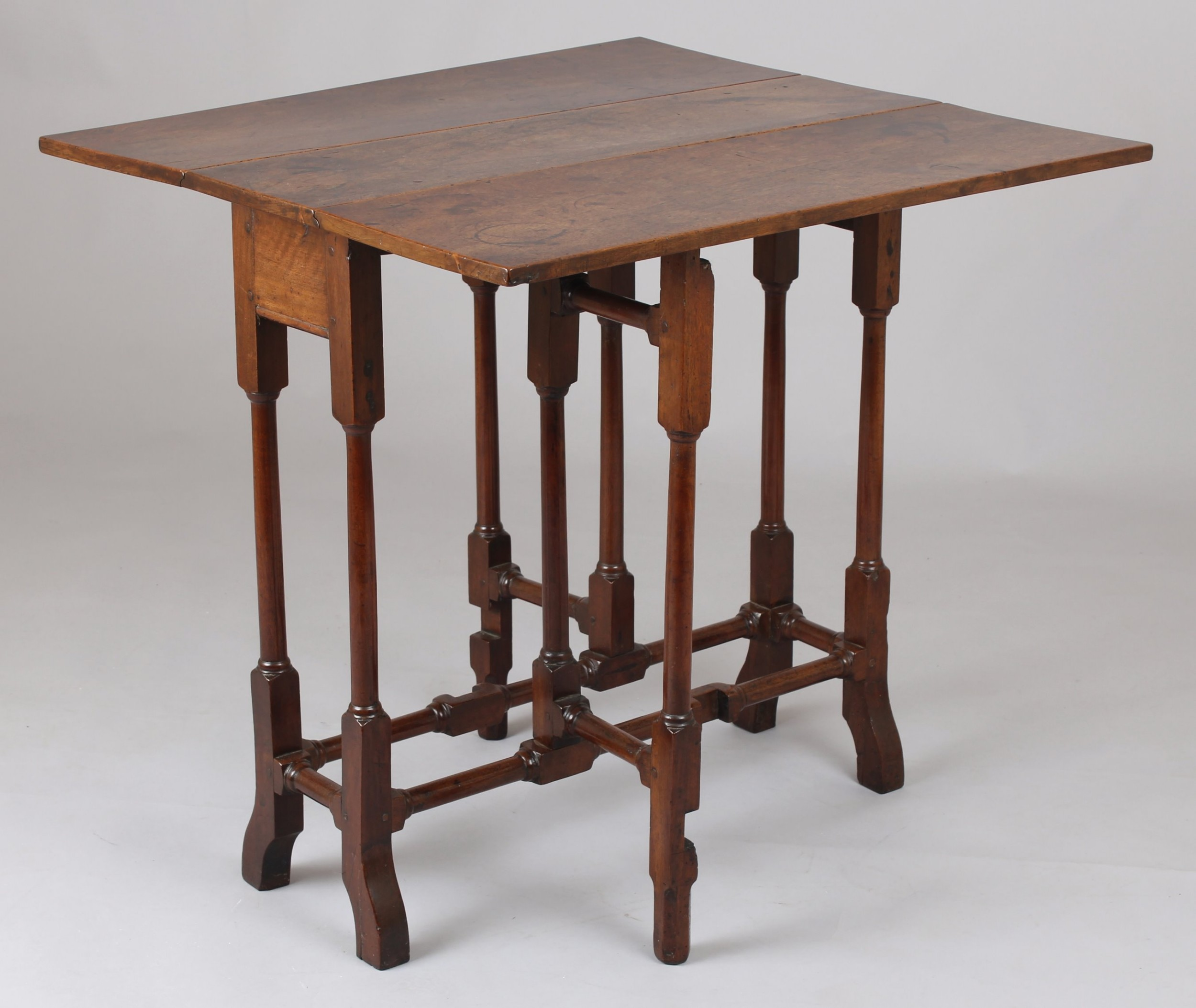 george ii period walnut dropleaf table of unusually small size