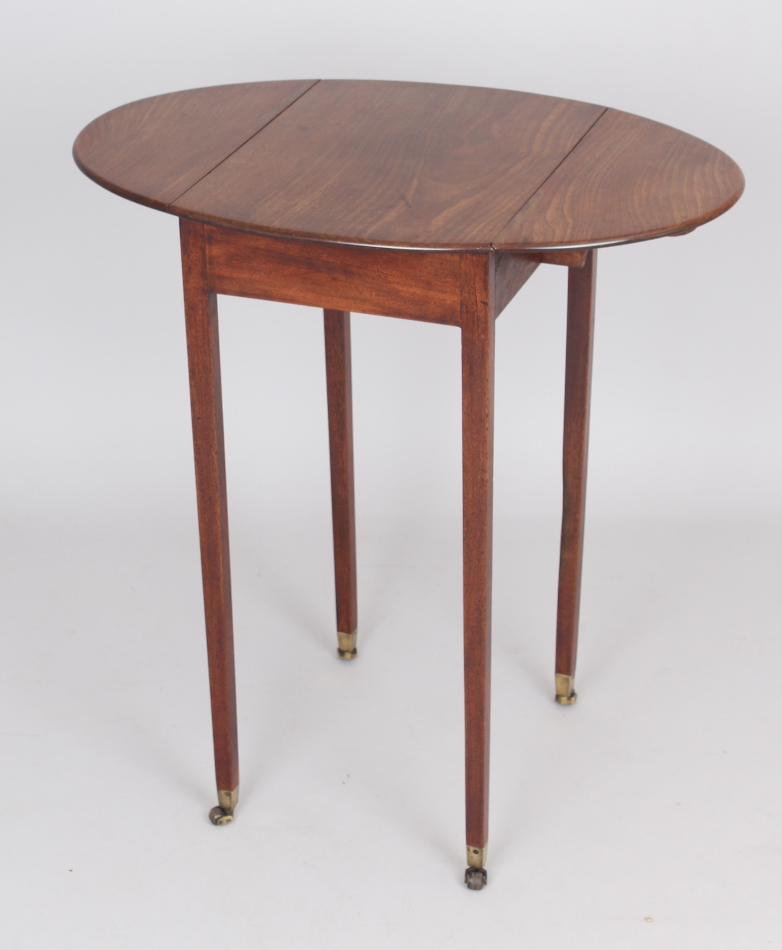 george iii period mahogany small oval pembroke table of simple design
