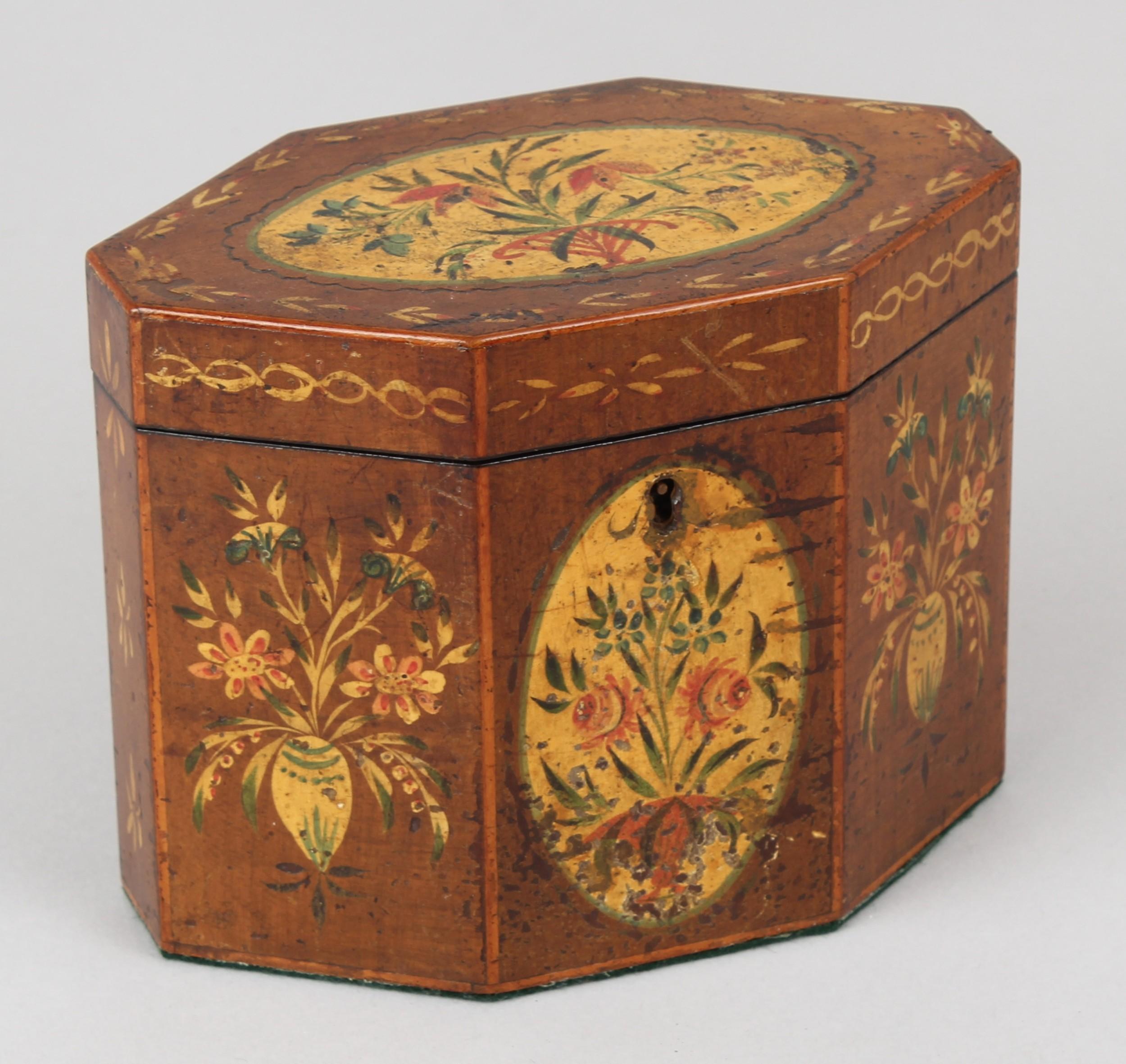 george iii period octagonal harewood teacaddy