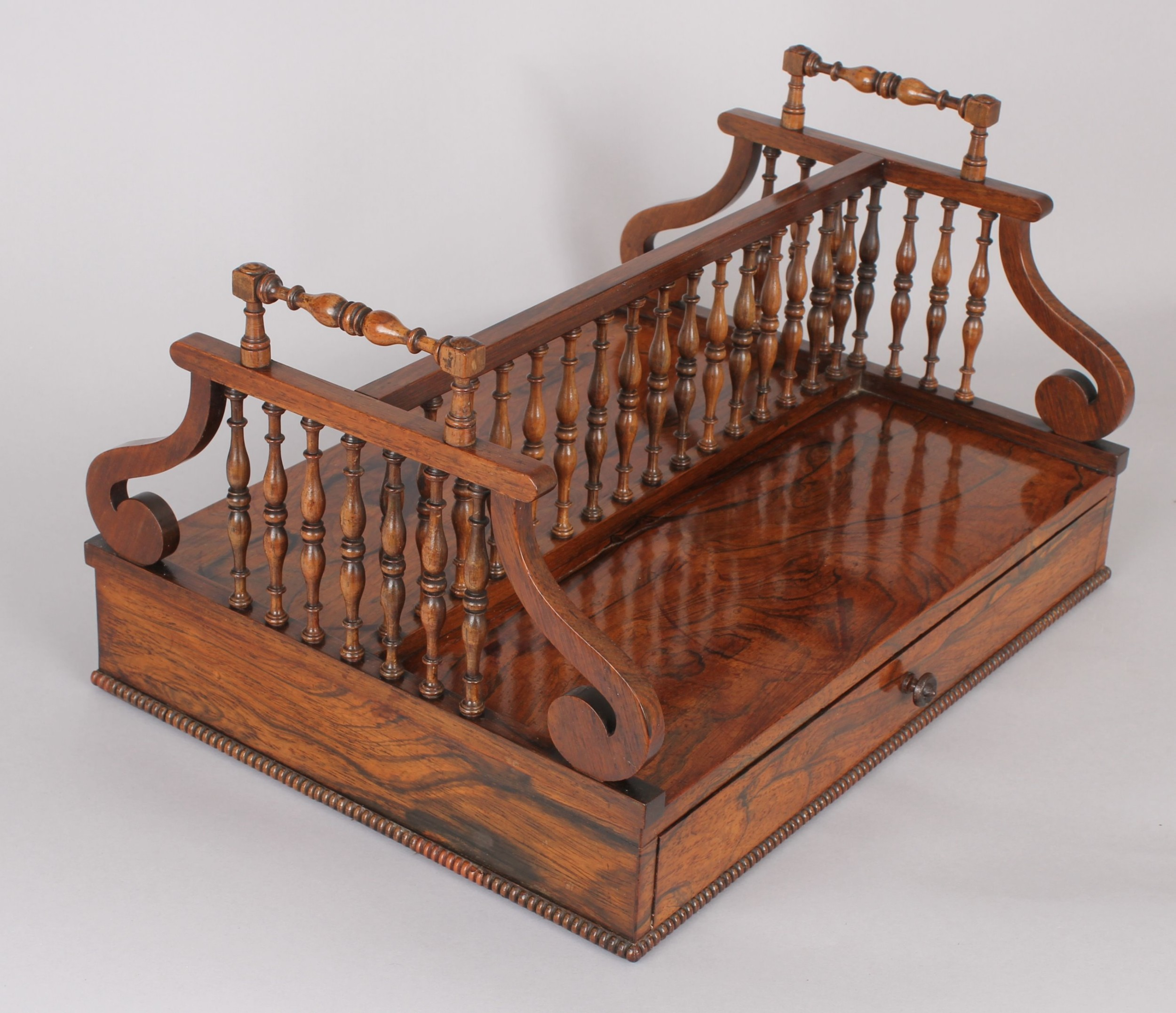 fine regency period rosewood bookstand in the manner of gillows of lancaster