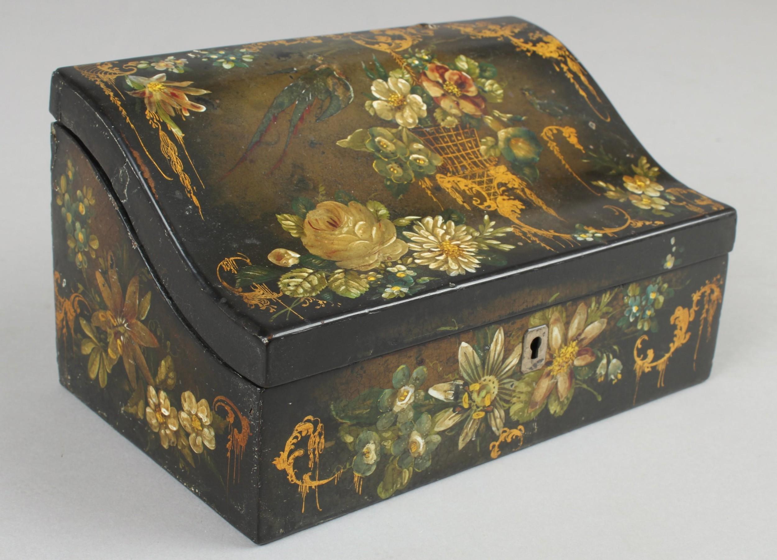 victorian papiermch box