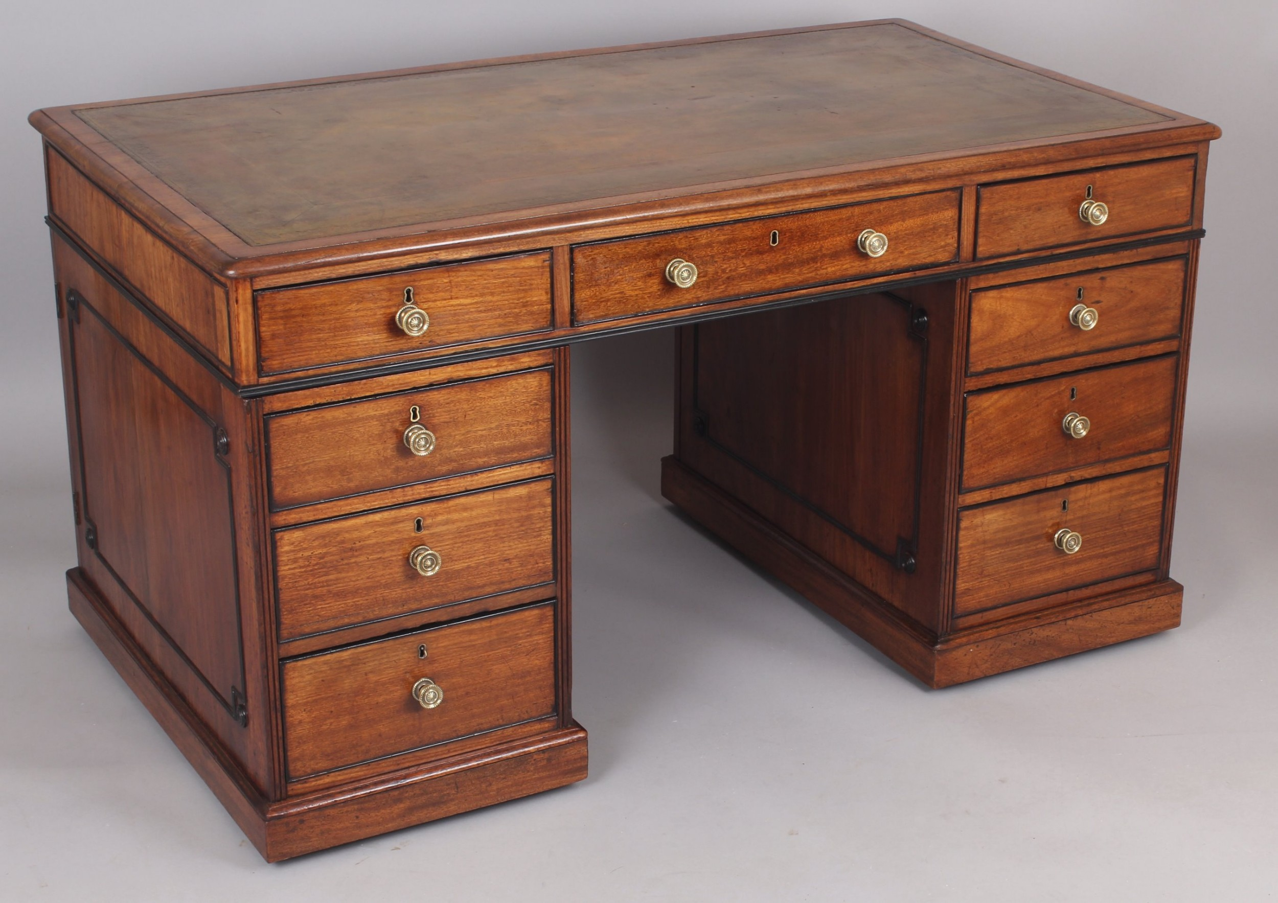 george iv period mahogany partners' desk