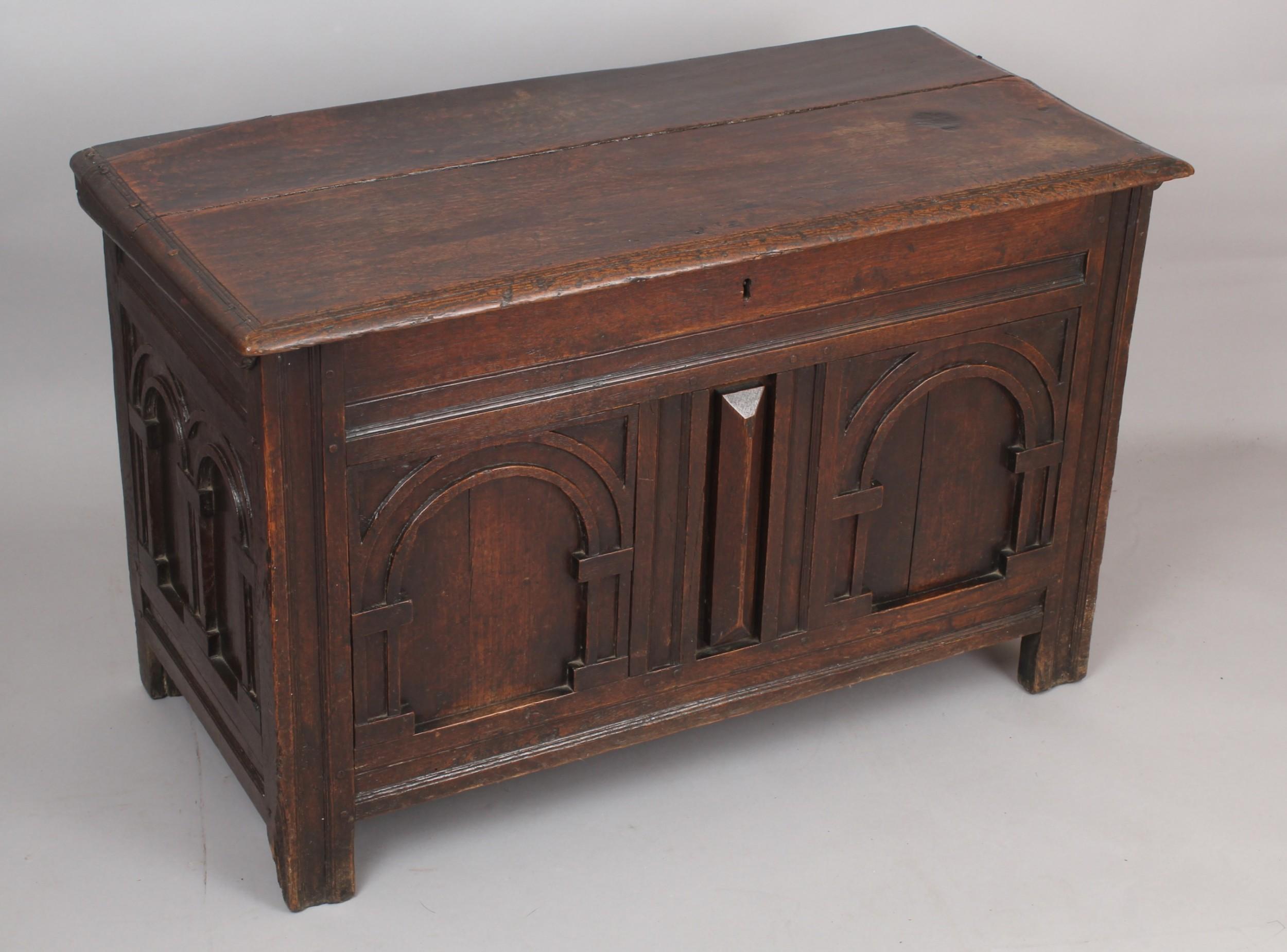 late 17th century small oak coffer