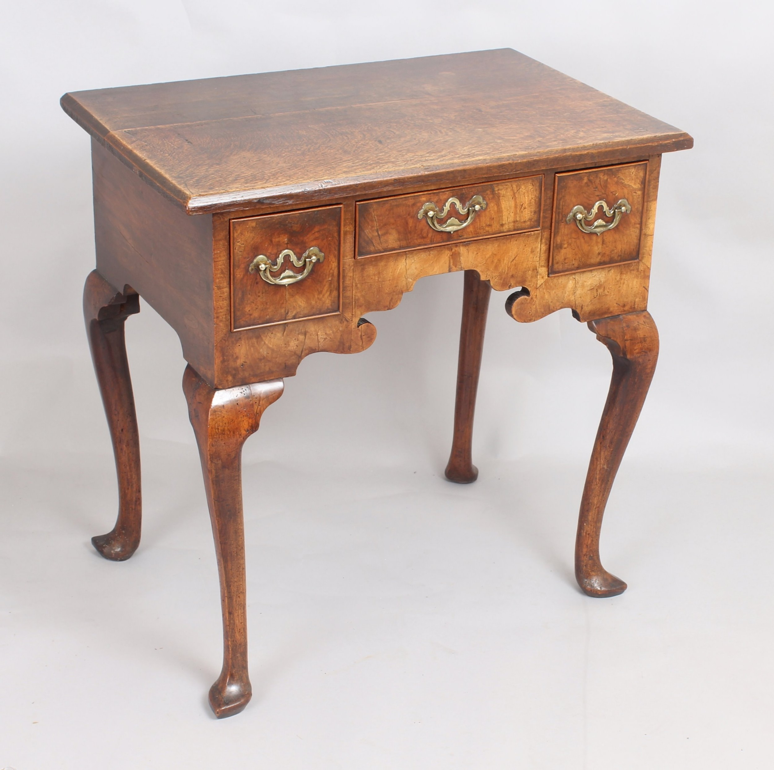 george ii period walnut and oak lowboy