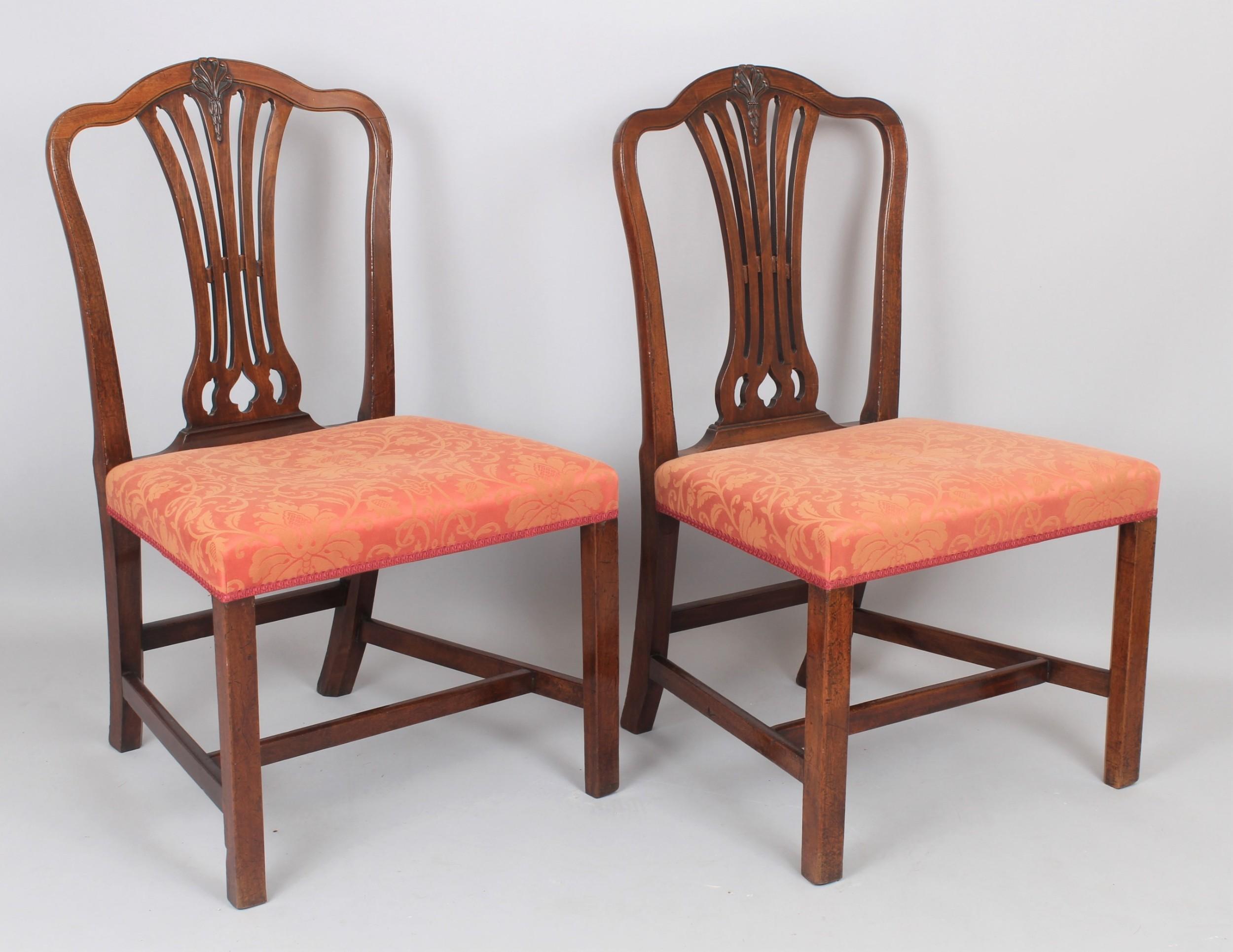 pair of george iii period mahogany single chairs