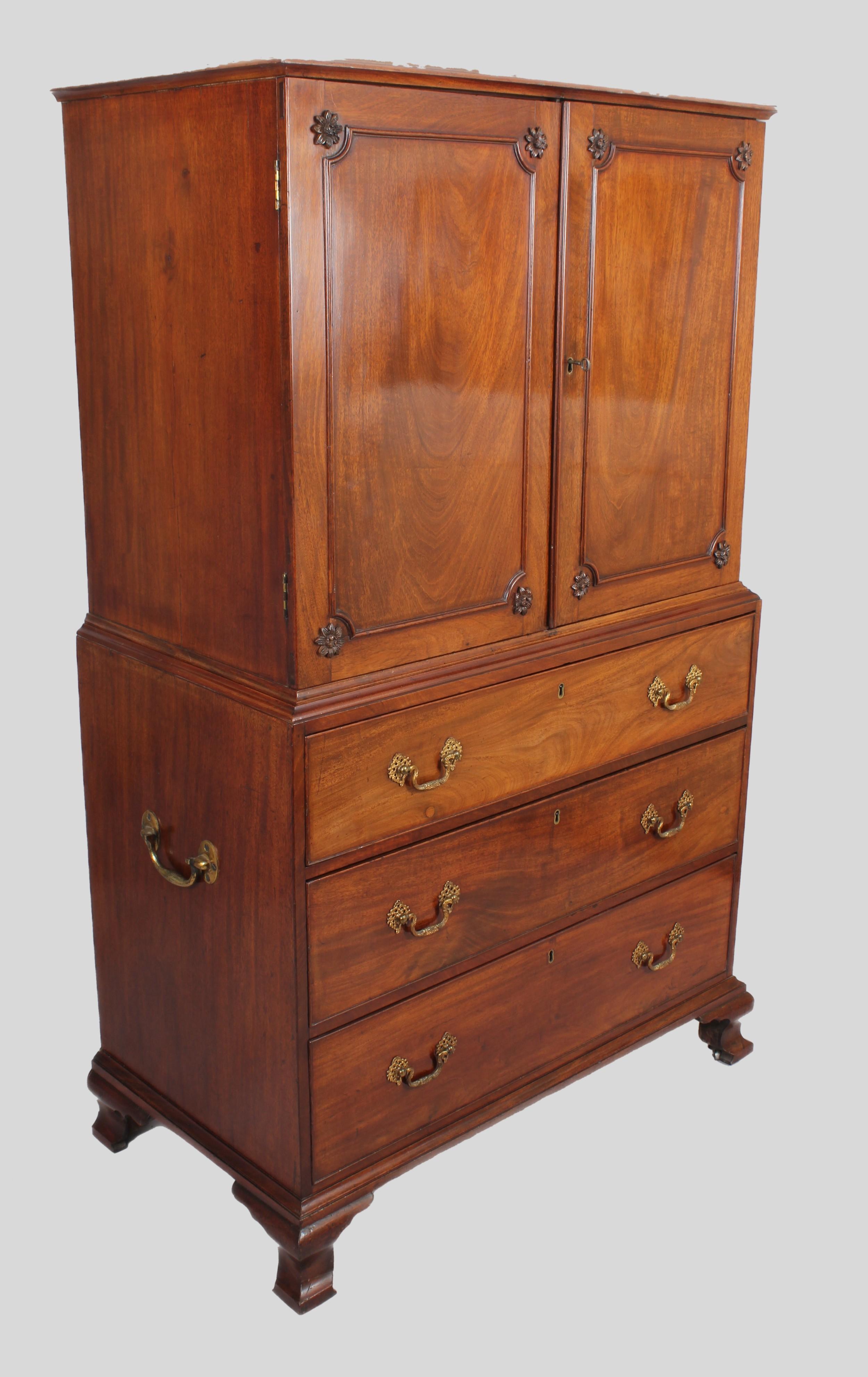 a delightfully small 18th century mahogany cabinet