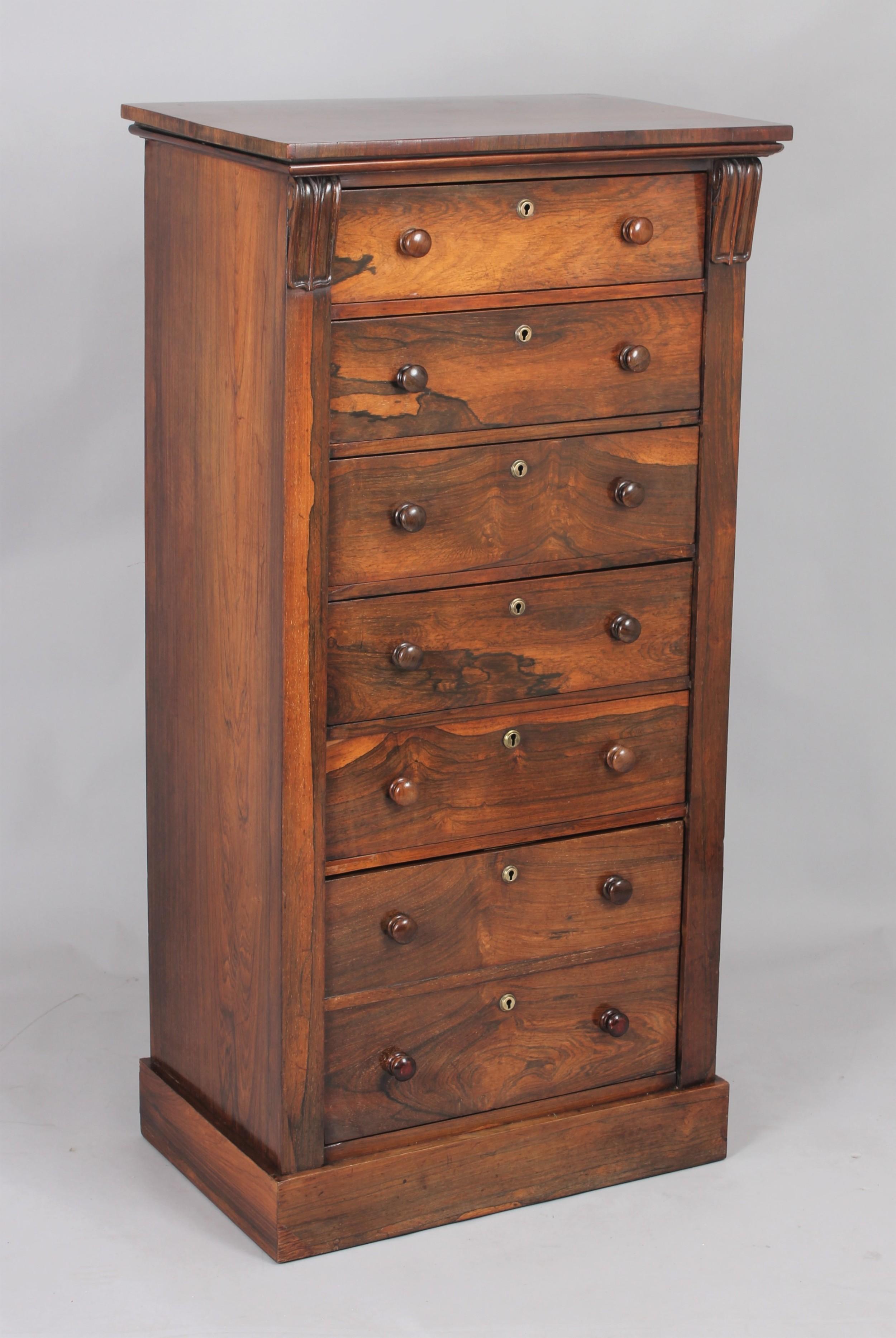 wellfigured and useful rosewood wellington chest