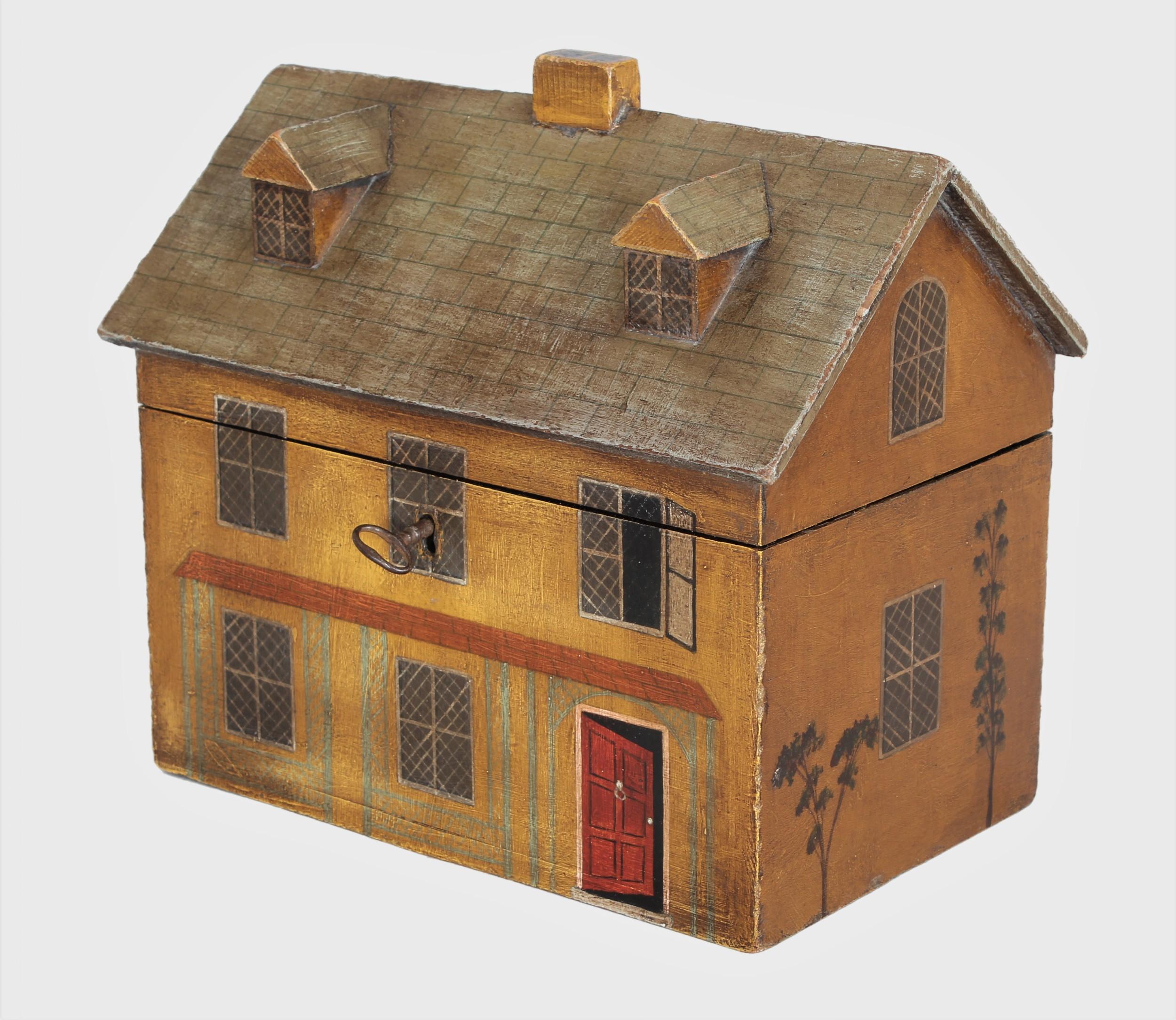 a charming 19th century 'house' tea caddy