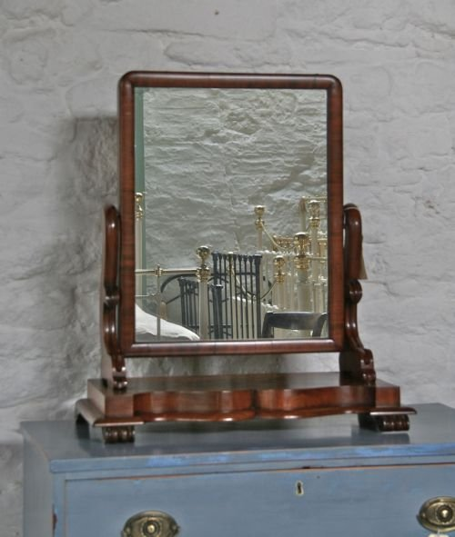 victorian mahogany toilet mirror - photo angle #2