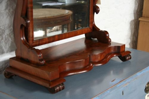 victorian mahogany toilet mirror - photo angle #3