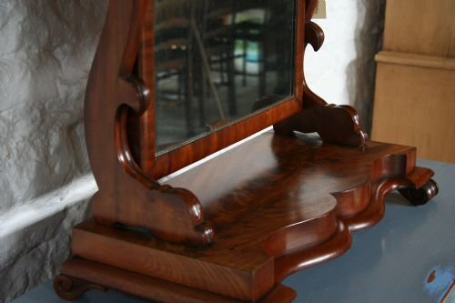 victorian mahogany toilet mirror - photo angle #4