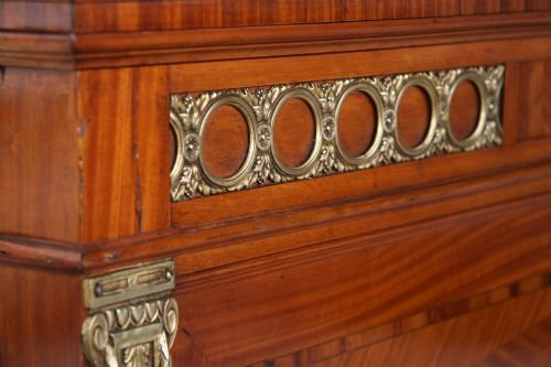 french louis xv1 6' wide marquetry and inlay - photo angle #5