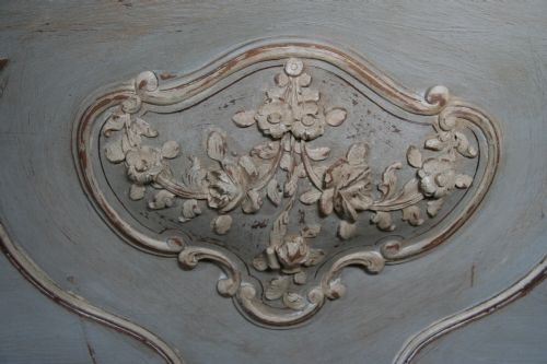 french aged greycream painted double louis xv - photo angle #3