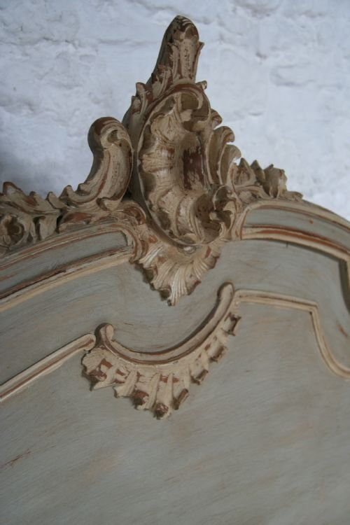french aged greycream painted double louis xv - photo angle #5