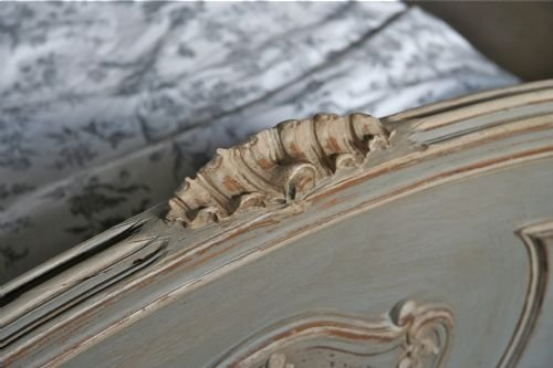 french aged greycream painted double louis xv - photo angle #4