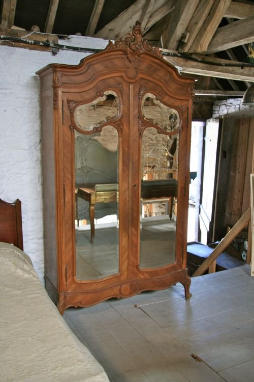 french walnut louis xv bedroom suite - photo angle #3