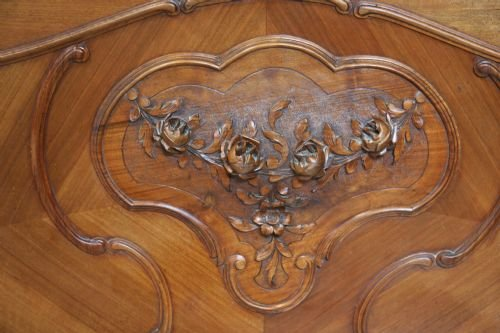 french walnut louis xv bedroom suite - photo angle #4
