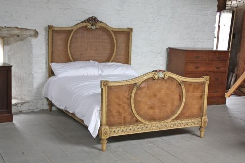 Original French Bergere Style King Size Caned Bed