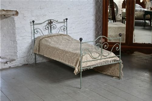 Pretty Forged Iron Shabby Chic Single Bed 174735 Sellingantiques