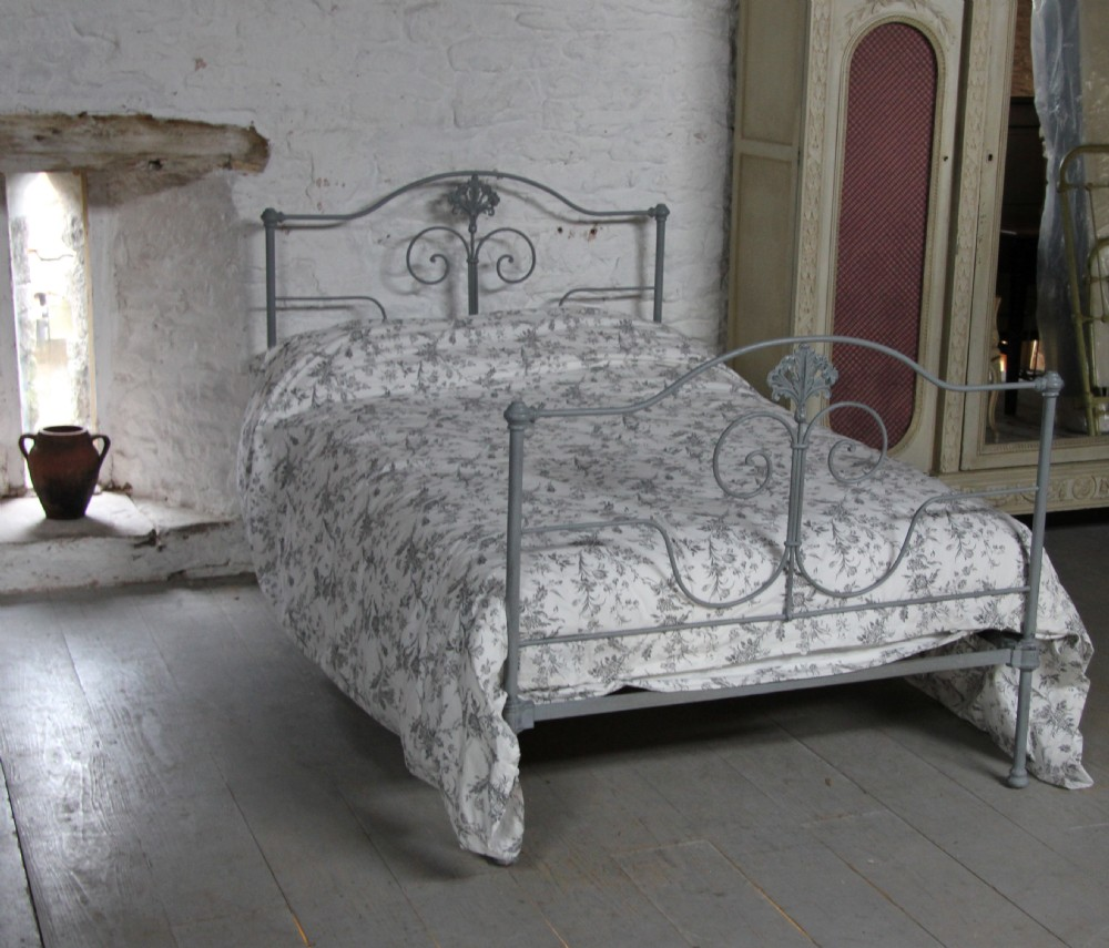 Pretty Three Quarter Size Forged Iron Bed