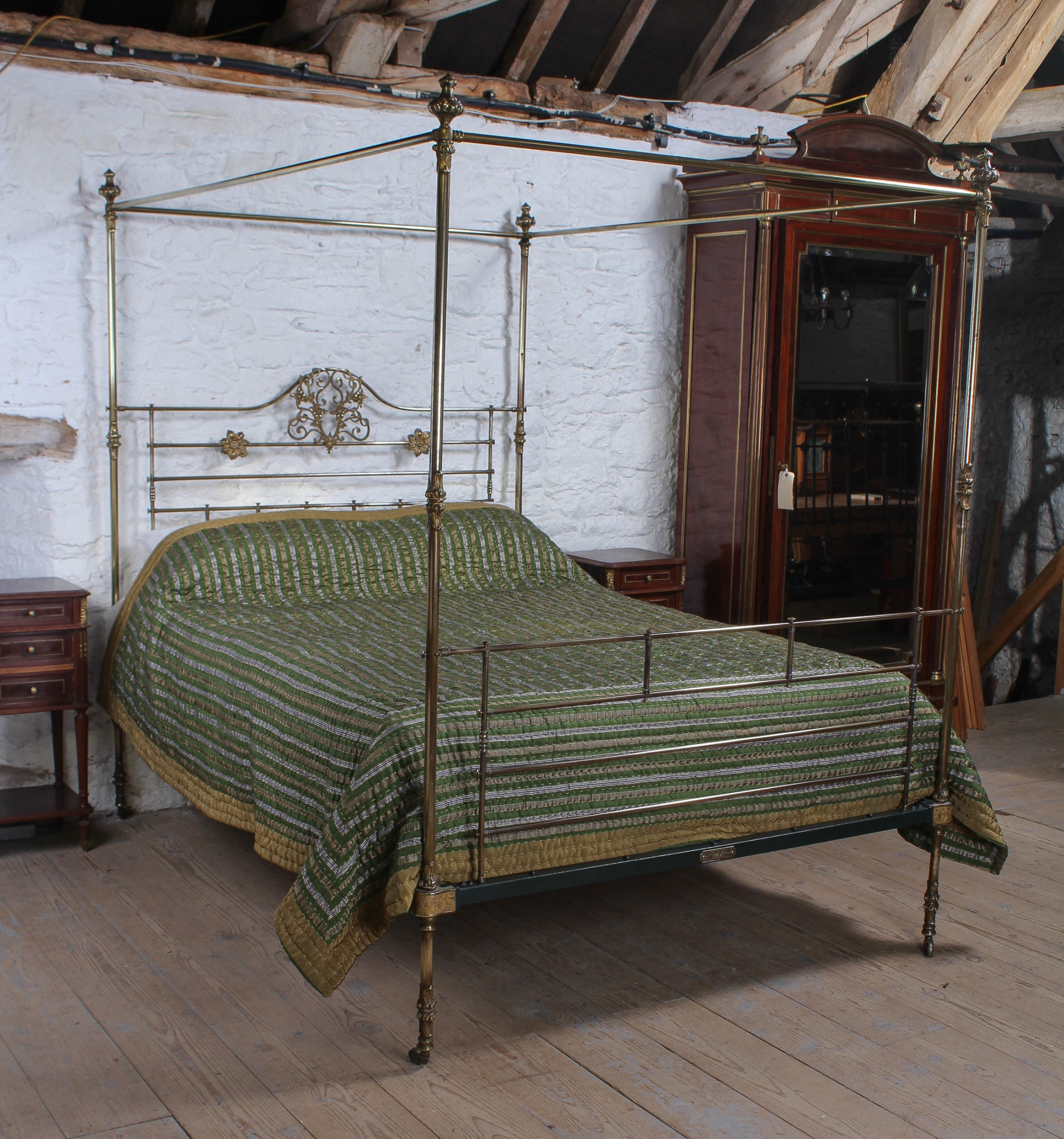 Winfield All Brass Four Poster King Size Bed 738988 Sellingantiques Co Uk
