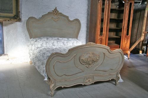 french aged greycream painted double louis xv