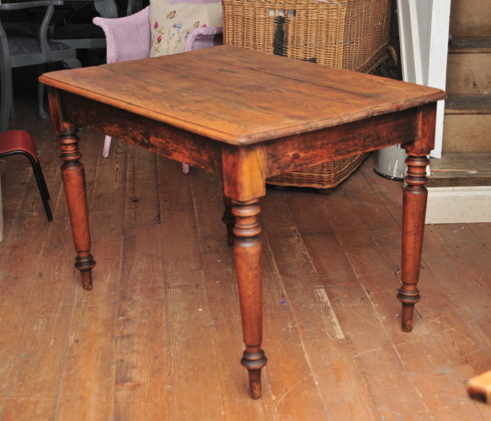 Small Farmhouse Table Part - 26: Small Vintage Victorian Pine Farmhouse Table