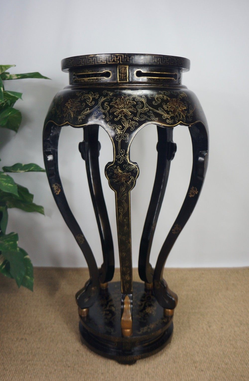 art deco chinoiserie chinese side table jardiniere plant. Black Bedroom Furniture Sets. Home Design Ideas