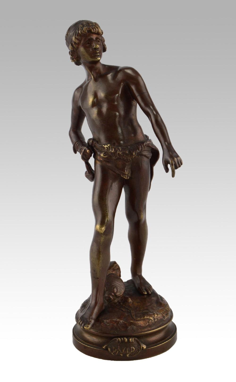 bronze sculpture of david by louis auguste moreau
