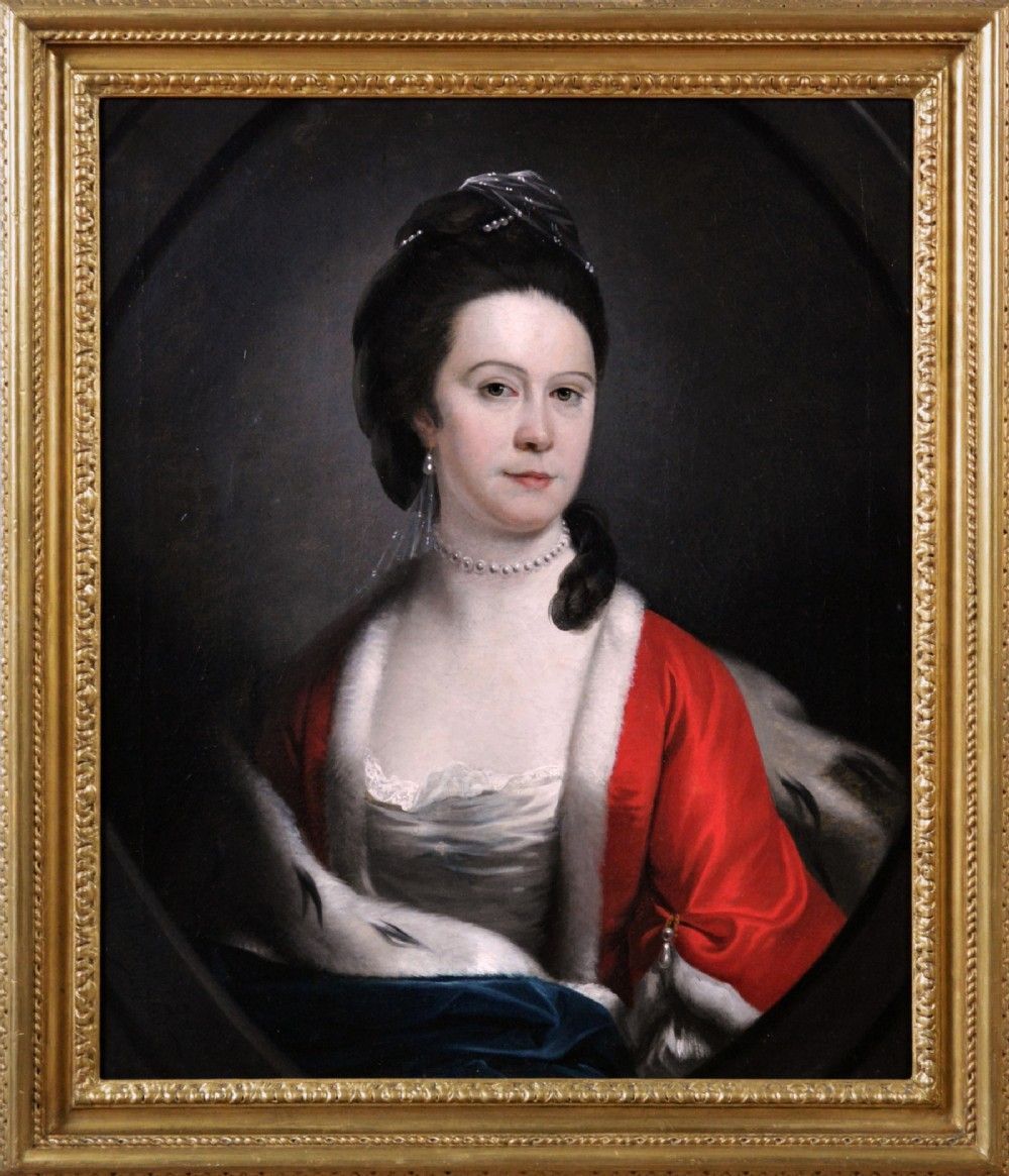 portrait oil painting of a lady 1768 by henry pickering