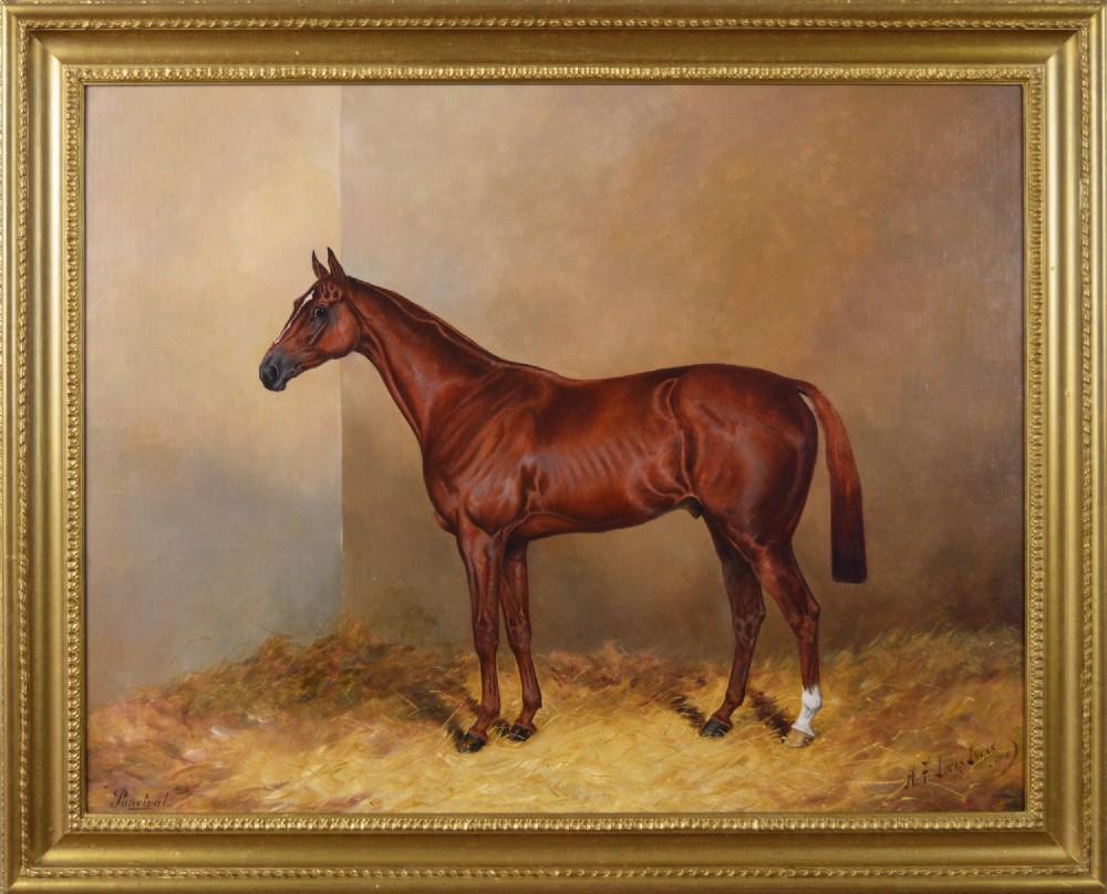 horse portrait oil painting by henry frederick lucas lucas