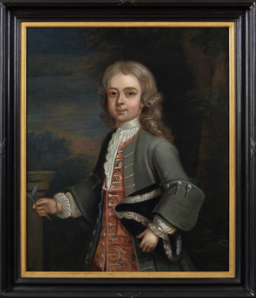 portrait oil painting of a boy c1715 circle of robert byng