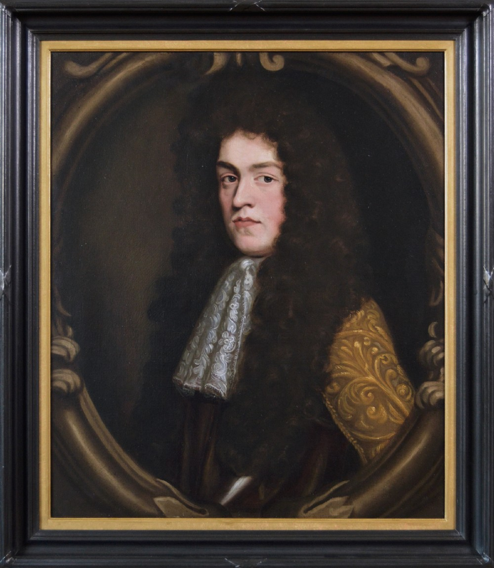 portrait oil painting of a gentleman 17th century circle of willem wissing