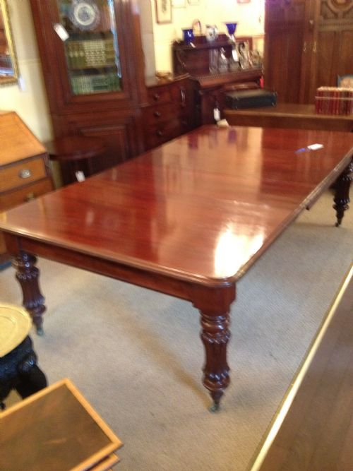 Victorian Mahogany Pull Out Dining Table 2 Leaves 176632