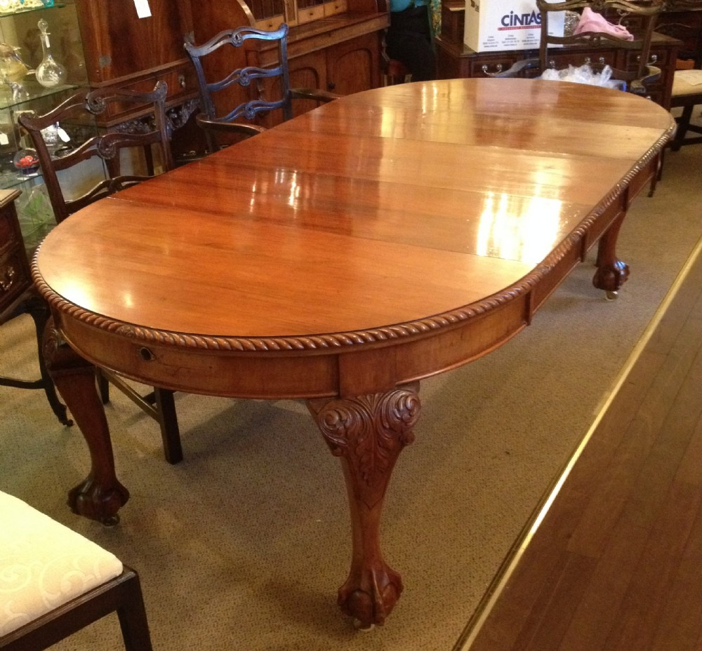 Antique Walnut Wind Out 8 Seater Dining Table With Three
