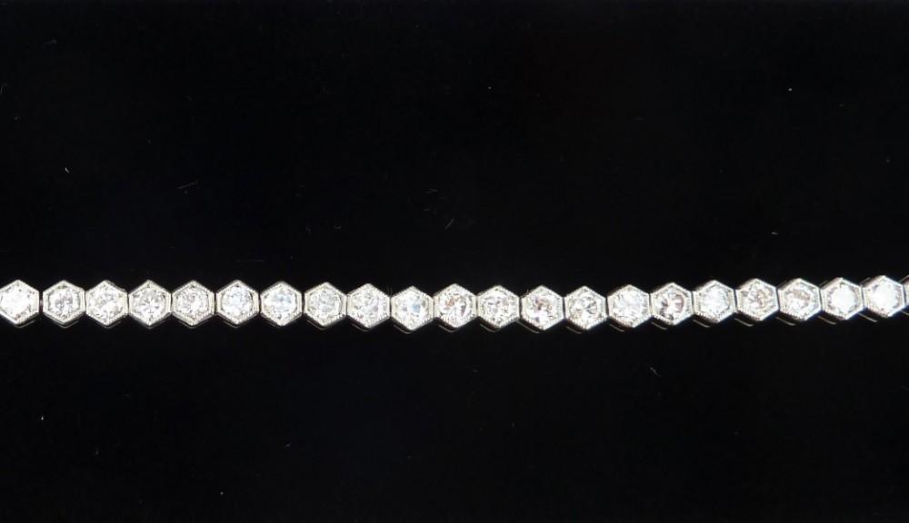 gorgeous art deco antique platinum 312ct diamond vintage antique tennis bracelet